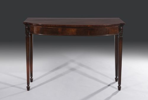 superb late 18th century george iii period bowfront serving or console table