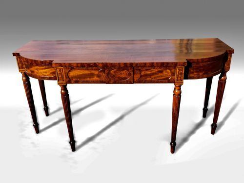 a wonderful george iii mahogany breakfront serving table in the manner of gillows
